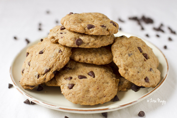 Vegán chocolate chip cookies