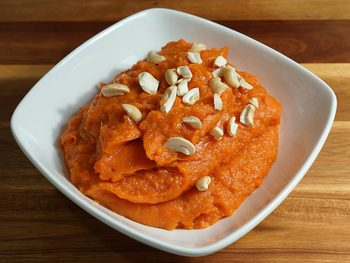 Sweet Potato Halwa (Eggless Pudding)