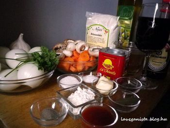 Julia Child be�julna - veg�n Boeuf Bourguignon