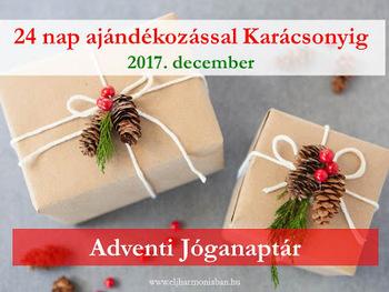 Adventi naptár - 24 nap ajándékozással a Karácsonyig 4b26c2193f